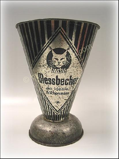 2704-alter-Metall-MESSBECHER-von-Luchs